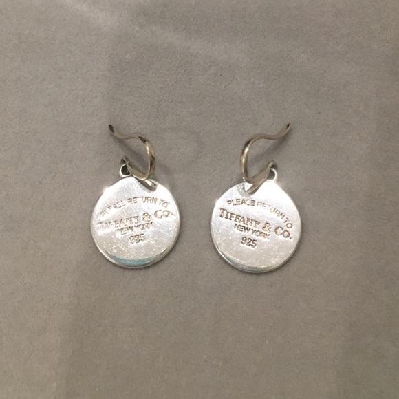 22800853eaf53 Return to Tiffany & Co. Round Tag Drop Earrings